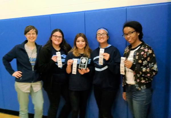 DGS Society of Women Engineers Club Earns Third Place at Rube Goldberg Machine Contest