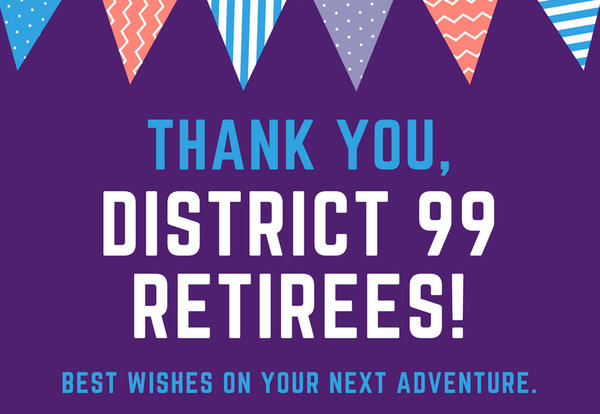 District 99 Celebrates 18 Retiring Staff Members