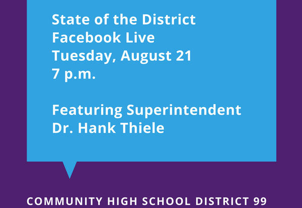 """D99 to host """"State of the District"""" Event on Facebook Live on August 21"""