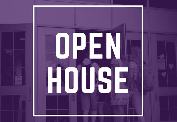 Parent Open House: Thursday, August 30