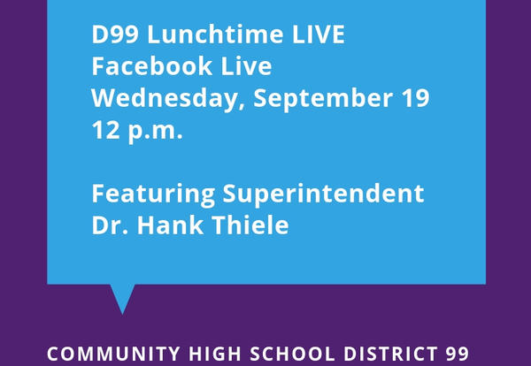 D99 to Host Monthly Lunchtime Facebook Live Events Beginning Sept. 19