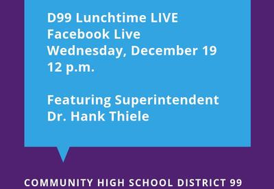 District 99 To Host Facebook Live Event On December 19