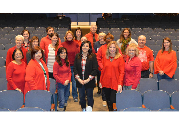 DGS Staff Go Red for Wear Red Day
