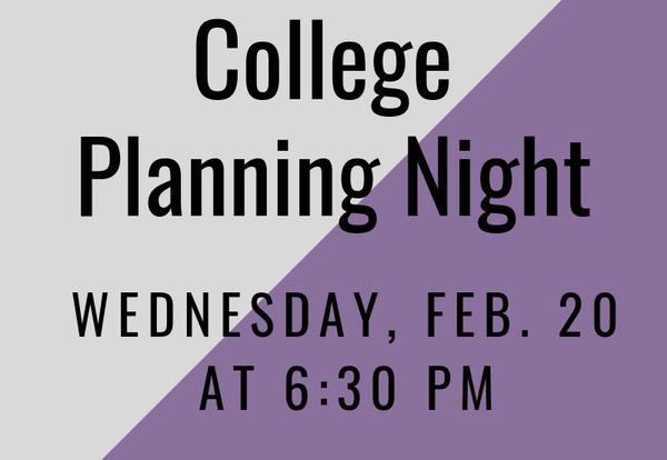 DGN College Planning Night: Feb. 20
