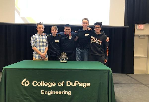 DGS Students Place First in College of DuPage Engineering Olympics
