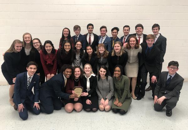 Speech Team Earns First Place at National Speech & Debate Tournament