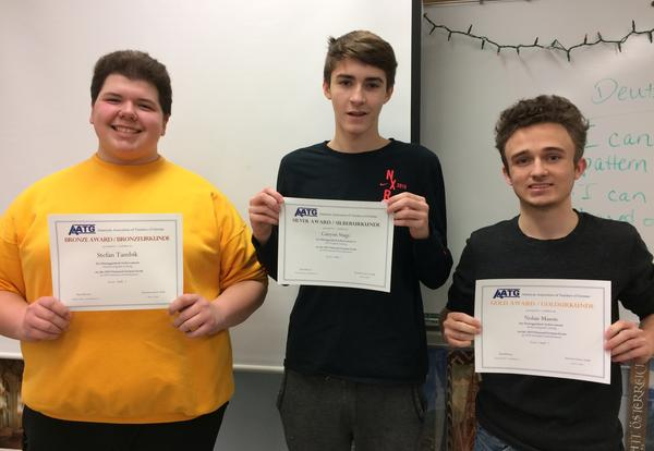 DGS Students Earn National German Exam Recognition