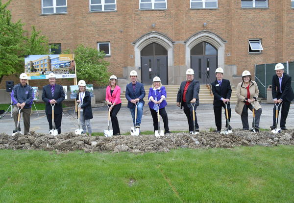 District 99 Breaks Ground at North High for Master Facility Plan