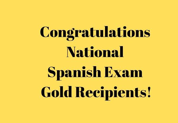 Three DGS students receive Gold on National Spanish Exam