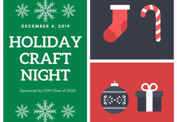 DGN Holiday Craft Night: Dec. 4