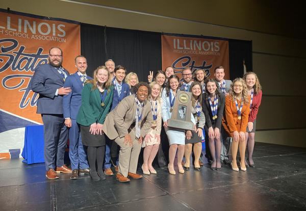 Downers Grove South High School Team Wins State Championship in Speech, Three Individual Speech Championships