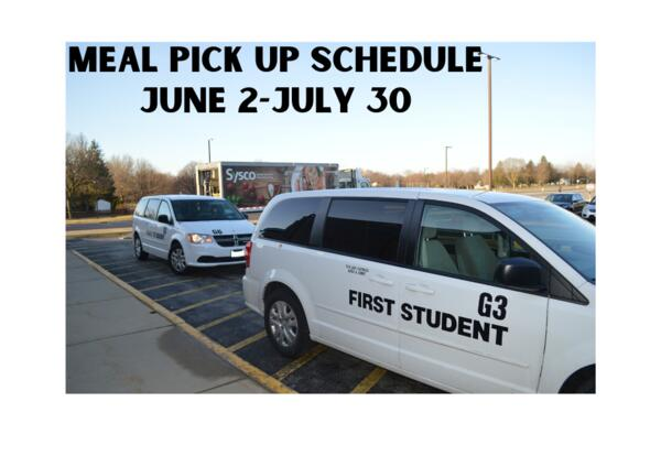 Summer Meal Distribution Schedule: June 2-July 30