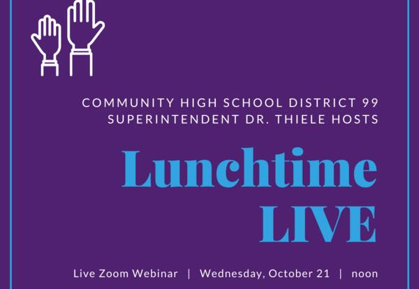 Lunchtime LIVE w/ Dr. Thiele: Oct. 21 at noon