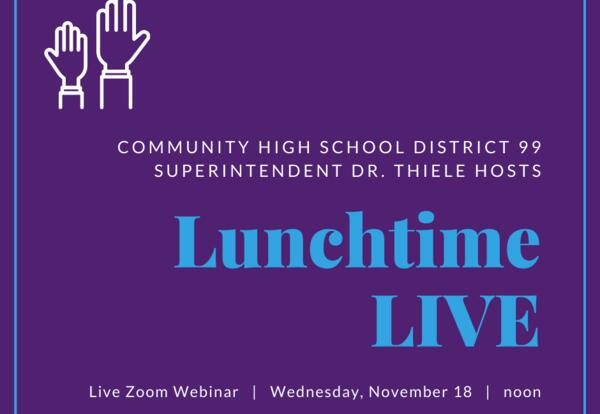 Lunchtime LIVE w/ Dr. Thiele: Nov. 18 at noon
