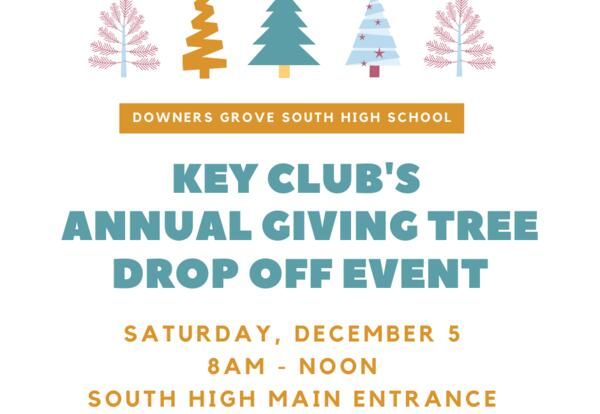 Key Club's Annual Giving Tree Drop Off Event