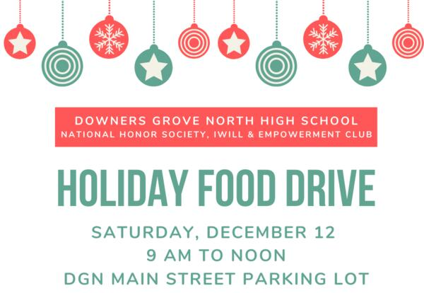 DGN Students Host Holiday Food Drive: Dec. 12