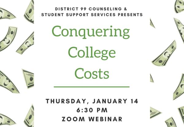 Conquering College Costs Q&A: Jan. 14