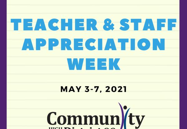 Say Thank You to D99 Staff and Teachers!