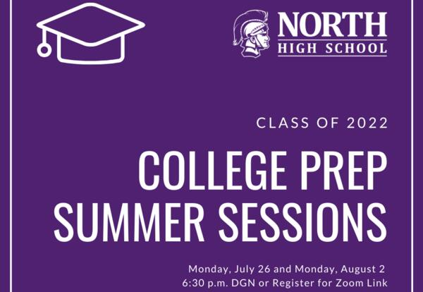 College Prep Sessions: July 26 and Aug. 2