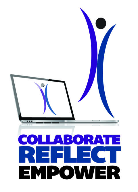 Collaborate reflect empower logo