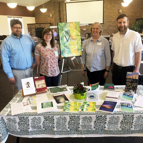 2018 Book Celebration: Andy Brubacher Kaethler, Sophia Austin, Barb Nelson Gingerich and Karl Stutzman.