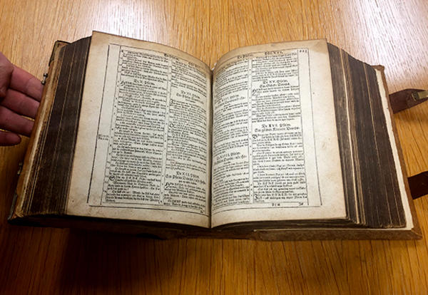 A Low German Bible published in 1599–1600 has been added to the AMBS Library's collection. (AMBS photo)