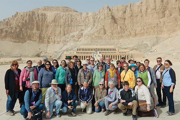 Participants on the 2016 Encountering Egypt learning tour.