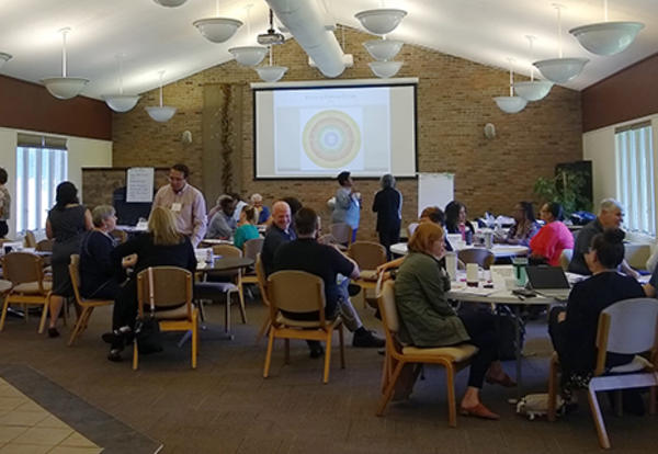 More than 40 representatives of local organizations participated in a daylong Intercultural Competence: Beyond the Basics workshop Aug. 28 at Anabaptist Mennonite Biblical Seminary in Elkhart.
