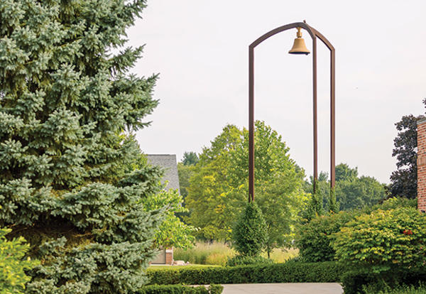 The Wadsworth Bell on the AMBS campus. (Credit: Peter Ringenberg)