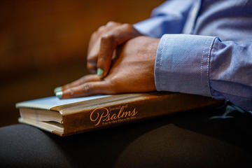 Hands on a book of Psalms