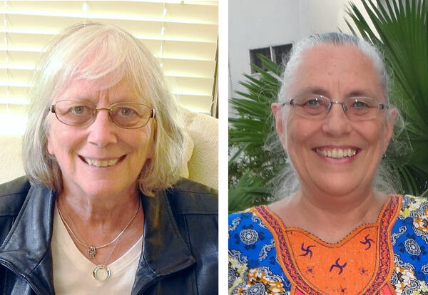 Nancy Kauffmann, D.Min., and Anne Garber Kompaoré, Ph.D., are the 2020 recipients of Anabaptist Mennonite Biblical Seminary's Alumni Ministry and Service Recognition. (Photos provided)