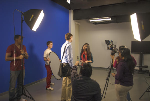 New Media Lab with Students