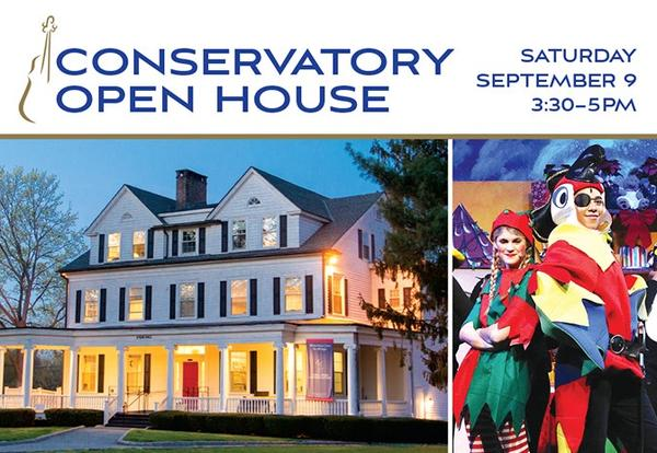 Conservatory Open House—Saturday, September 9, 3:30-5:00