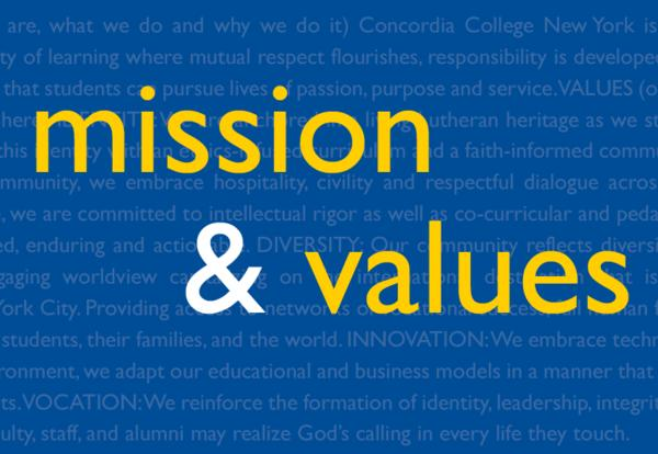 Learn More about Concordia's New Mission and Values