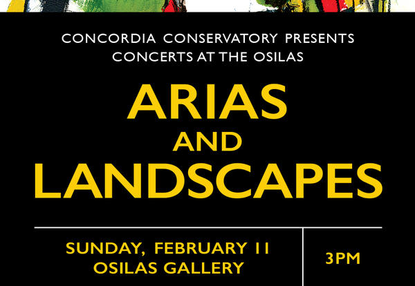 Arias and Landscapes Concert at the OSilas