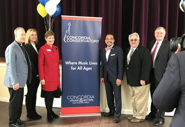 Concordia Conservatory Stamford Holds Press Conference and Ribbon Cutting Ceremony on March 9