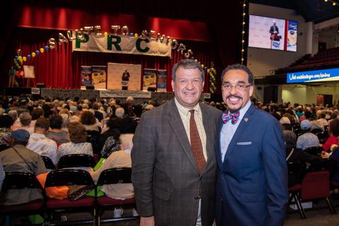 County Executive George Latimer and Concordia President Rev. Dr. John Nunes