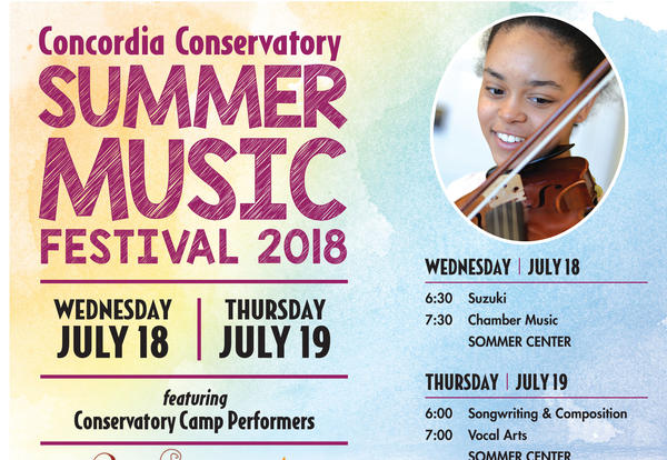 Conservatory Summer Music Festival 2018