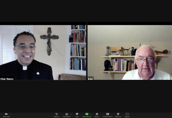 President Nunes Interviews Kenneth Hackett, Former U.S. Ambassador to Holy See, At Morning Reflection