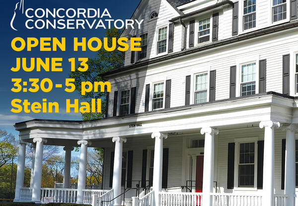 Concordia Conservatory Announces 2021-22 School Year Plans  and Presents an Open House - Sunday, June 13 from 3:30–5:00 pm