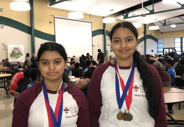 Students Win Science Olympiad Competition