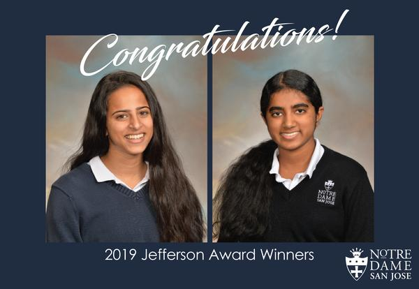 Students Recognized as Jefferson Award Recipients