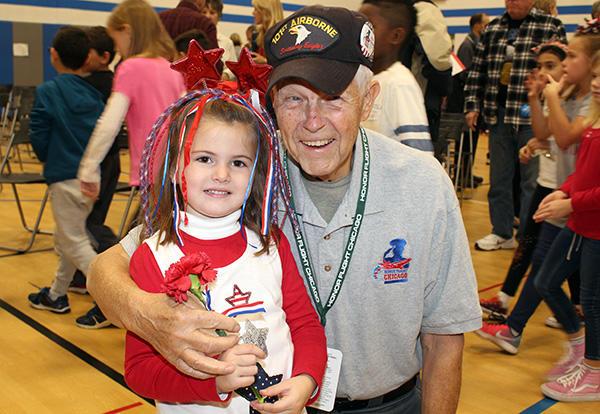 McAuliffe Elementary Commemorates Veterans Day