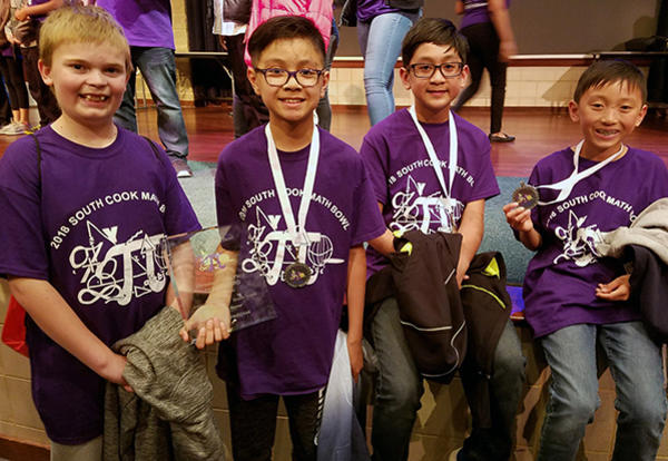 D140 Mathematicians Add Up Awards at South Cook Math Bowl