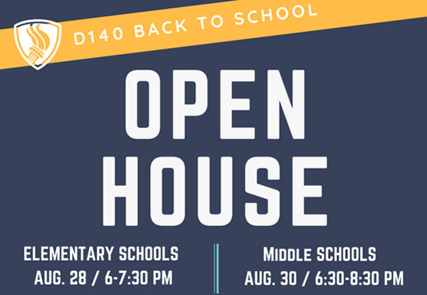 KSD 140 Invites Families to Open House Nights