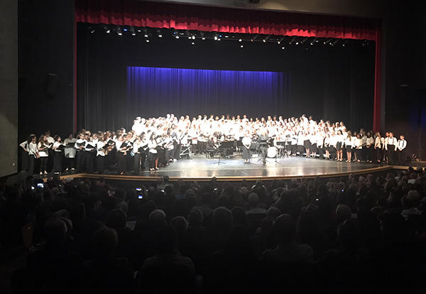 D140, D146, and D230 Choruses Perform Combined Concert