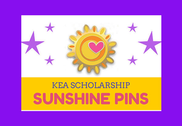 KEA Scholarship Sunshine Pins on Sale in December!