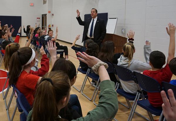 IL State Senator Michael Hastings Visits Grissom