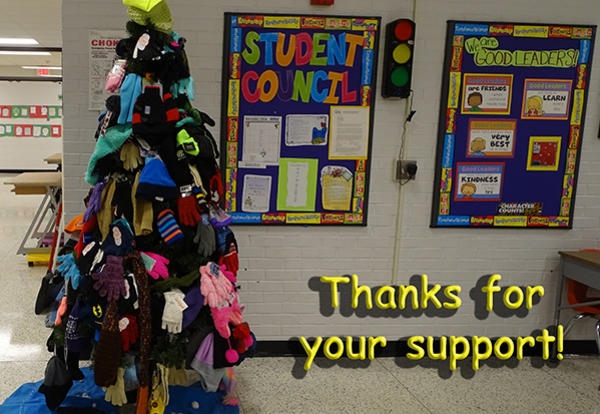 Thanks for Supporting our Trim-a-Tree Hat & Mitten Drive December 19, 2018