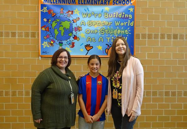 Millennium Honors Fourth Grade Hero